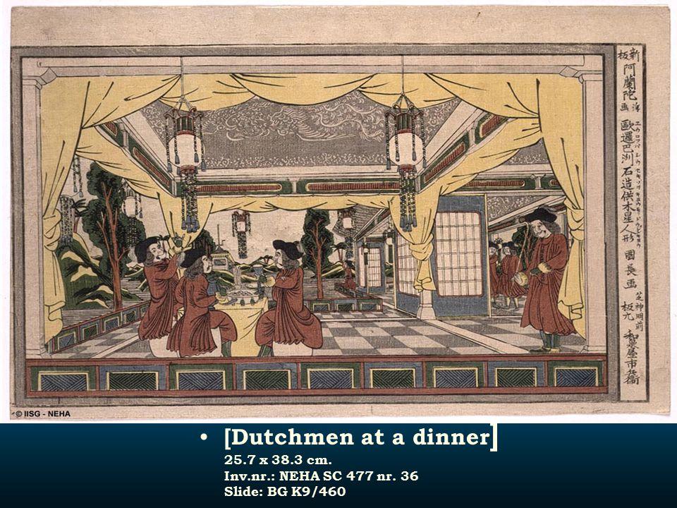 [Dutchmen at a dinner] 25. 7 x 38. 3 cm. Inv. nr. : NEHA SC 477 nr